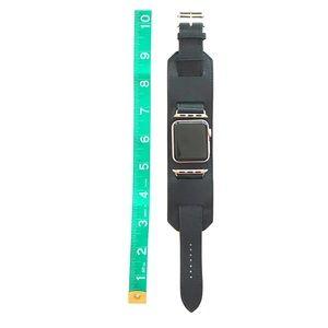 Apple Watch watchband cuff bracelet black